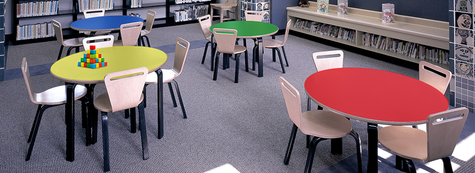 Thonet Modular Furniture And Commercial Tables And Chairs For Children - Kids tulip table