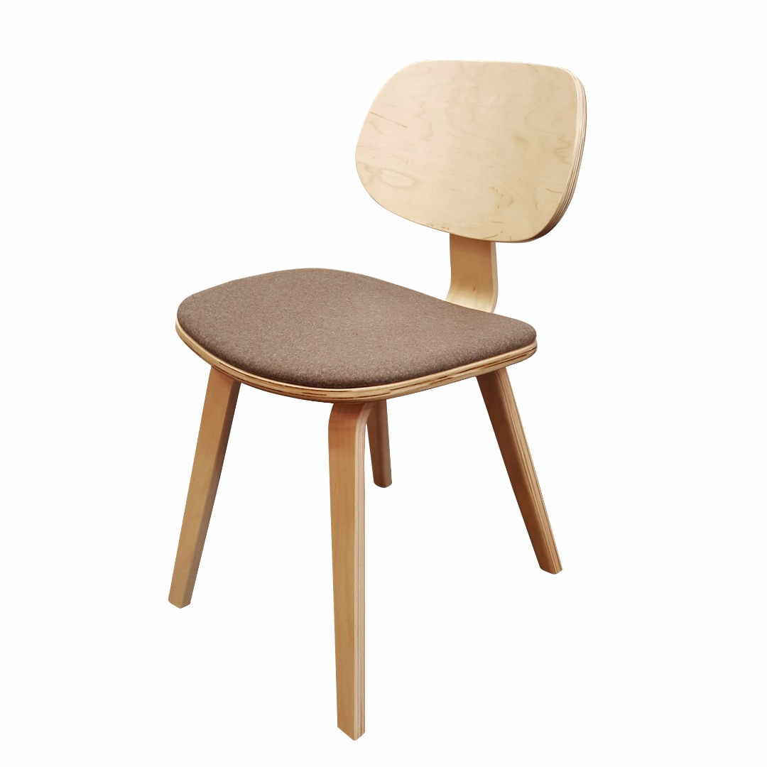 Charmant Bent Plywood Side Chair