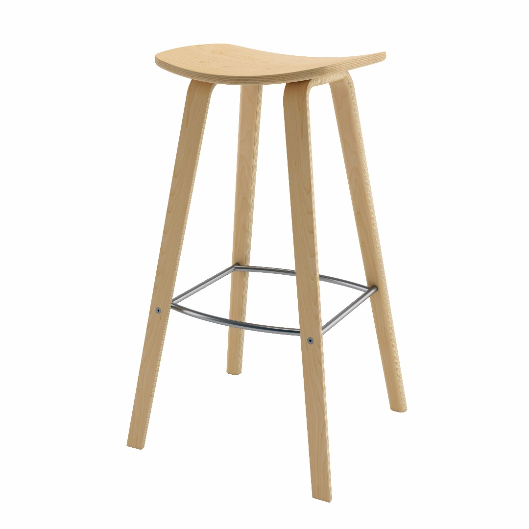 Brilliant Bent Plywood Barstool Gmtry Best Dining Table And Chair Ideas Images Gmtryco