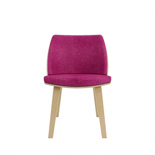 Loungechair Armless Front Fuchsia 030718