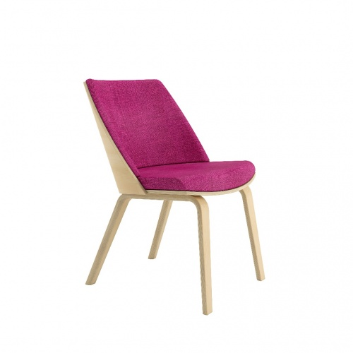 Loungechair Armless Frontangle Fuchsia 030718
