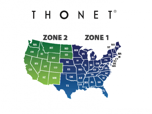 Thonet Freight Zone Map